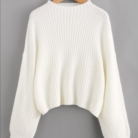 Tops New Super Cute Oversized Sweater In White Sl Poshmark